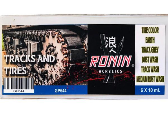 GP644 Estuche de 6 Pinturas Tracks & Tires 15ml. Ronin Set