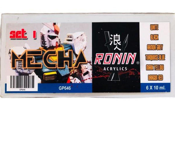 GP646 Estuche de 6 Pinturas Mecha Color 1 15ml. Ronin Set
