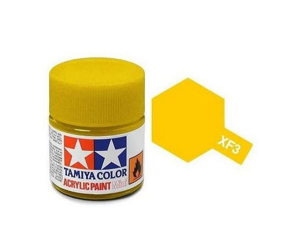 XF-3 Amarillo Mate (Flat Yellow) 10ml. Tamiya Color XF Mini Mate