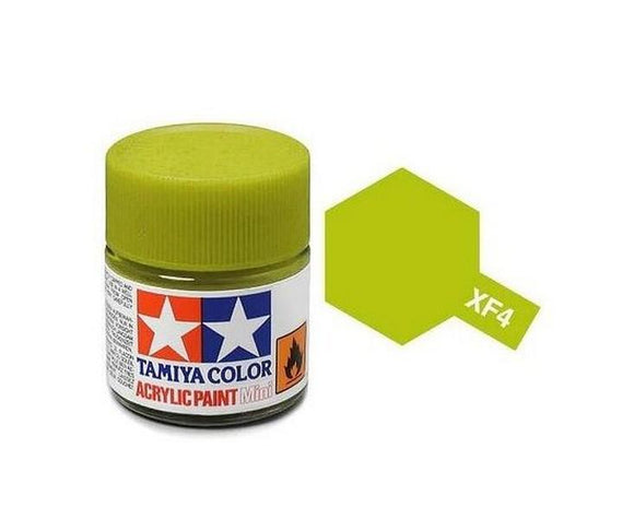 XF-4 Amarillo Verdoso (Yellow Green) 10ml. Tamiya Color XF Mini Mate
