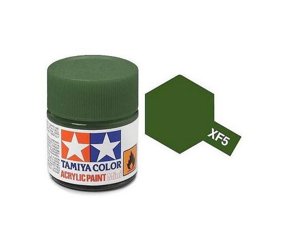 XF-5 Verde Mate (Flat Green) 10ml. Tamiya Color XF Mini Mate