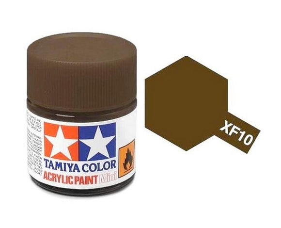 XF-10 Café Mate (Flat Brown) 10ml. Tamiya Color XF Mini Mate