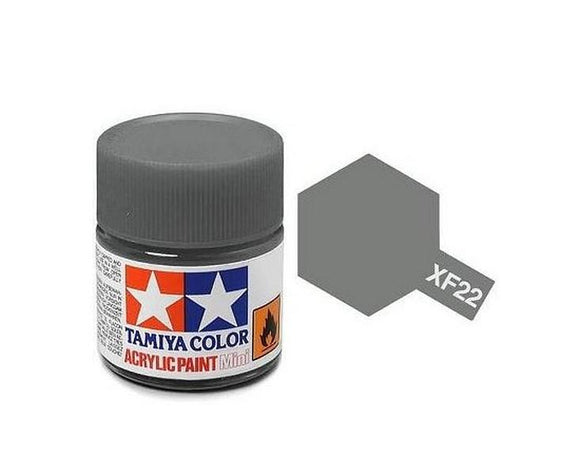 XF-22 Gris (Rlm Grey) 10ml. Tamiya Color XF Mini Mate