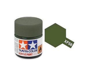 XF-58 Olive Green (Verde Olivo) 10ml. Tamiya Color XF Mini Mate