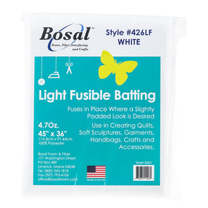 Bosal Single Sided Light Fusible Batting by Bosal Foam & Fiber