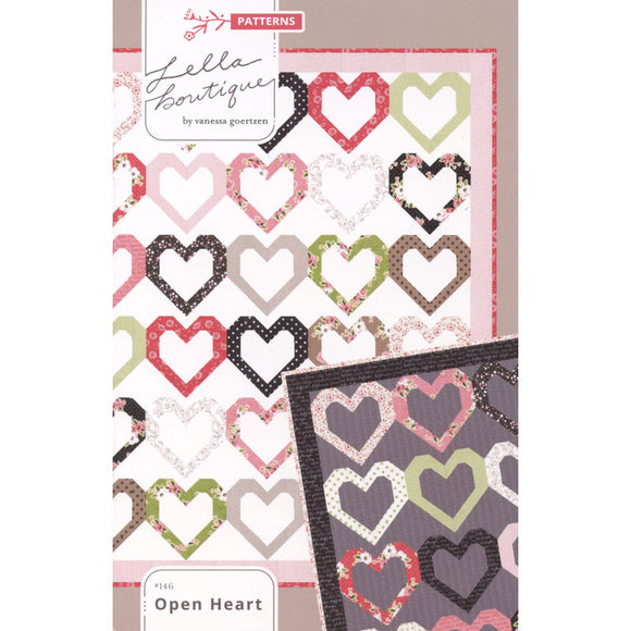 Open Heart Pattern by Lella Boutique for Moda Fabrics