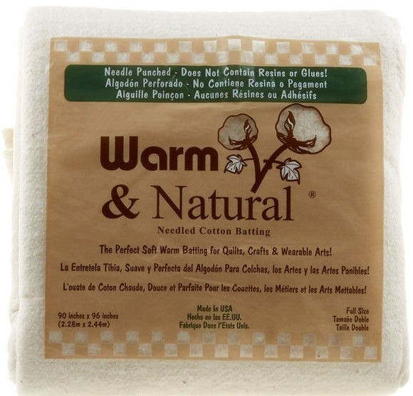 Warm & Natural® Cotton Batting Full for The Warm Company