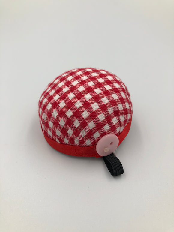 gingham pin cushion