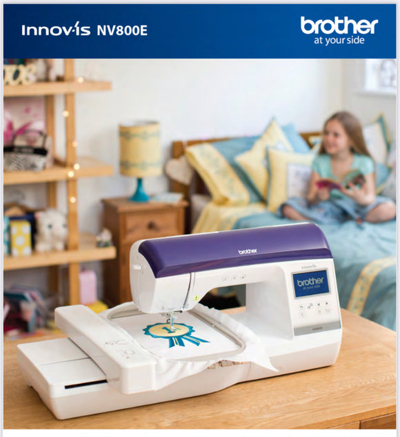 NV800E brother embroidery machine