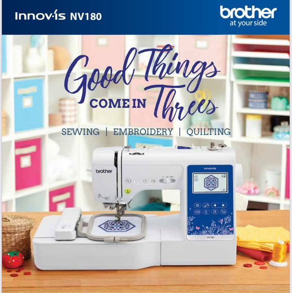 Brother NV180 Sewing & Embroidery Machine 100x100mm