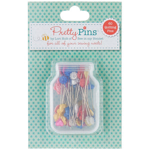 Lori Holt Pretty Pins™ 60 Quilting Pins by Lori Holt for Riley Blake