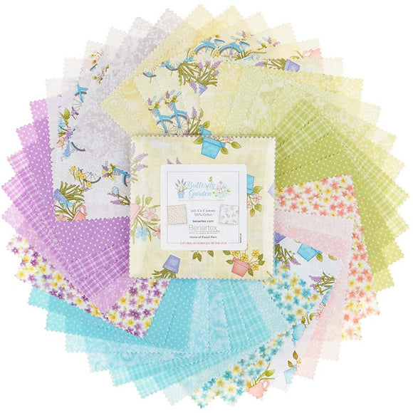 Butterfly Garden Charm Pack by Cheryl Haynes for Benartex
