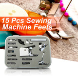 15 pcs Multifunction Domestic Sewing Machine Presser Foot Accessories