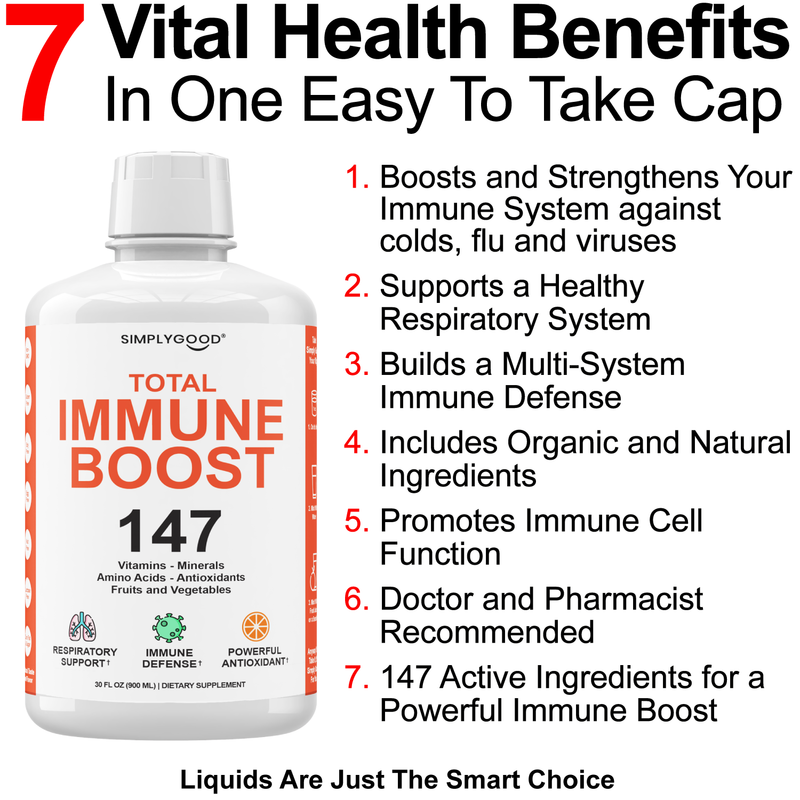 Liquid Immune Booster with 147 Essential Ingredients