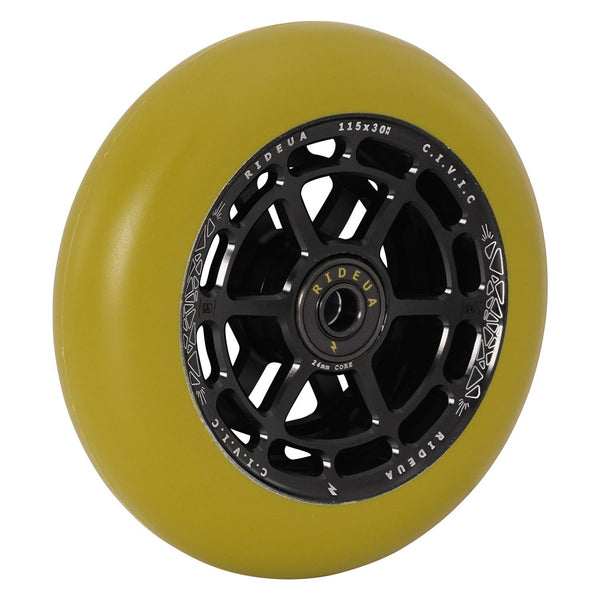 urbanArtt Civic 115 x 30mm Wheels - Black/Army Green