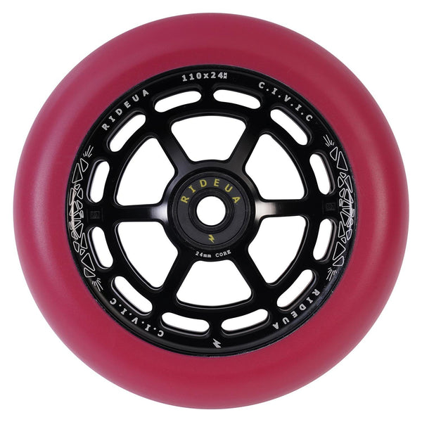 urbanArtt Civic 110 x 24mm Wheels - Black/Autumn Red