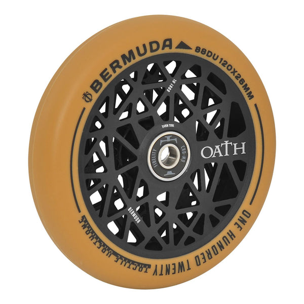 Oath Bermuda 120mm Wheels  - Anodised Black/Gum