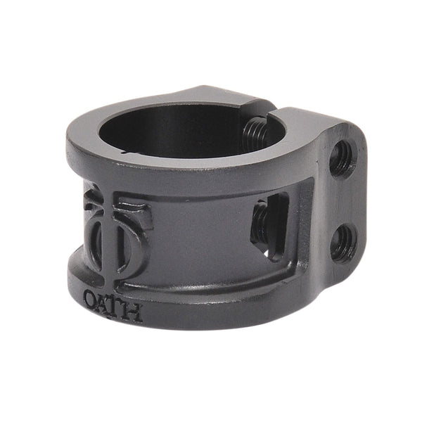 Oath Cage Alloy HIC/IHC 2-Bolt Clamp - Anodised Satin Black
