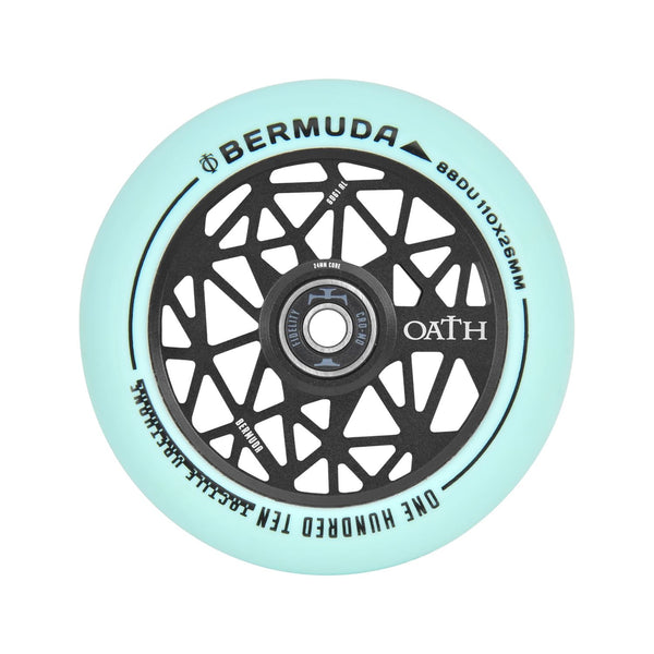 Oath Bermuda 110mm Wheels  - Anodised Black/Teal