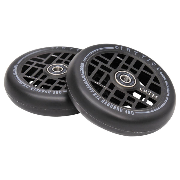 Oath Lattice 110mm Wheels - Anodised Satin Black