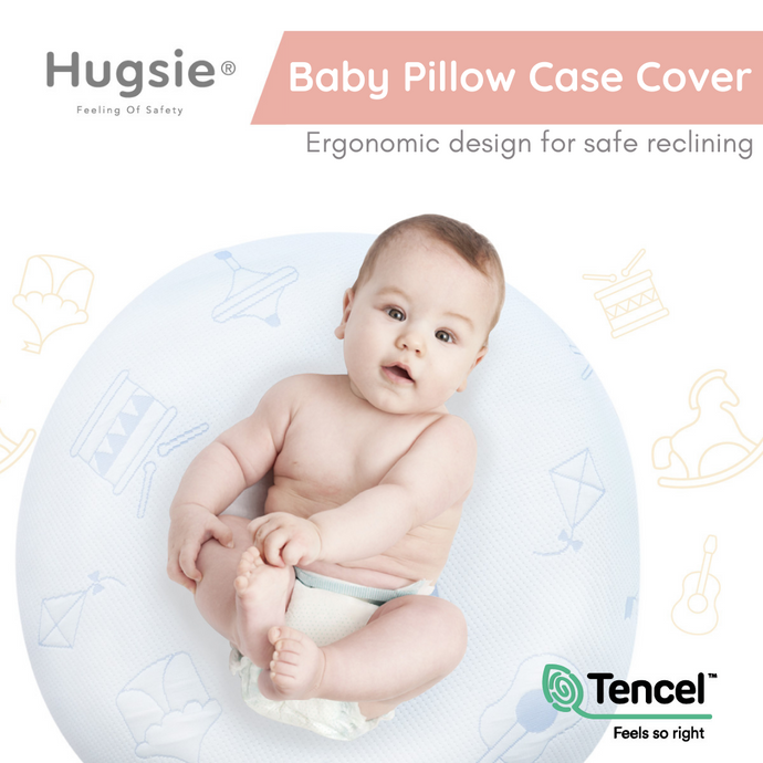 Baby Pillow Case Cover - 100% Tencel (Blue)