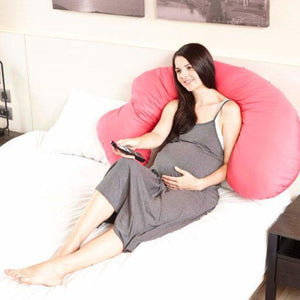 8-in-1 Maternity Pillow Comfort Series - 100% USA Cotton (Gray Melange)