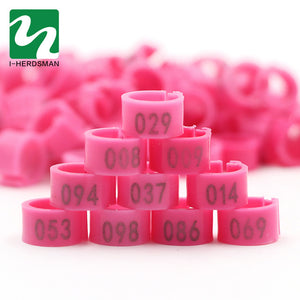 2 Set Of 1-100 Numbered 10mm Poultry  Bird Pigeon Duck Chicken Clip Leg Color Foot Rings Pet Management Logo Identification Tool
