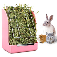 Load image into Gallery viewer, Rabbit Guinea Pig Chinchilla Hay Feeder Less Wasted Pet Feeding Rack Manager