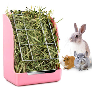 Rabbit Guinea Pig Chinchilla Hay Feeder Less Wasted Pet Feeding Rack Manager