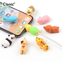 Load image into Gallery viewer, Cute USB cable organizer chompers for iphone kabel animal protector cable bite management cord wire saver chomper shark duck dog
