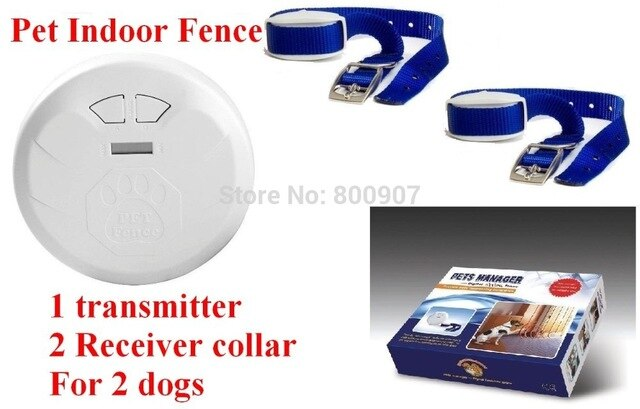 Pet Indoor Wireless Fence Dog training collar Dog Electric Shock Fence Dog Fence Pet Manager for 2 dogs