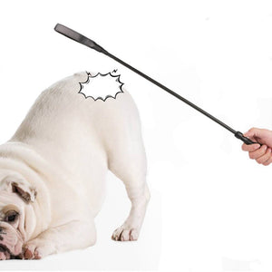 Long Handle Black Dog Training Whips Dog Behavior Management Stick Horse Riding Training Tool Pet Training Supplies