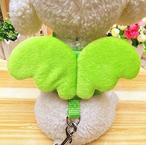 1pcs cute angel dog collars and dog pet is managed for small dogs cats designer dog pet accessories adjustable harness p666