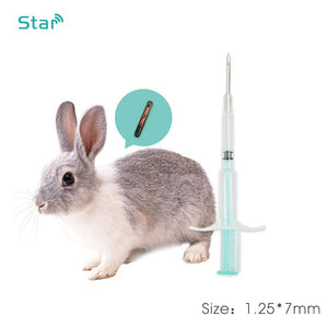 50pcs /lot 134.2khz 1.25*7mm Mini Microchip Pet Rfid Syringe Animal Id Tag for livestock Management