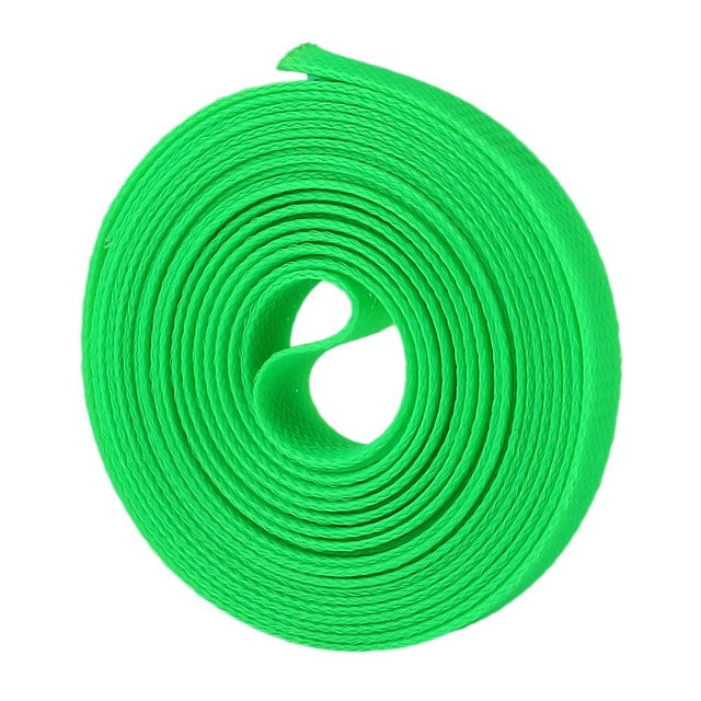 5M 4mm Wire Cable Protecting Cable Sleeve PET Nylon Braided High Density Sheathing Insulation White/Red/Green/Sapphire Blue
