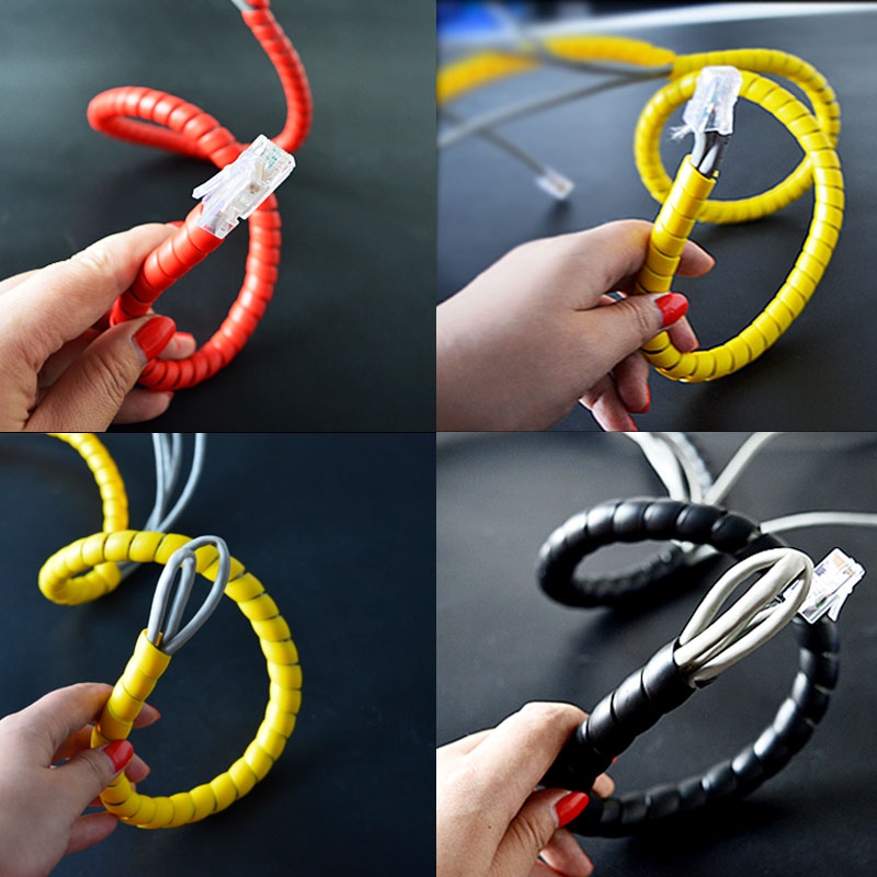 Wire anti bite line tube pet bite line power cord anti cat dog pet rabbit bite winding line management device protecting hose