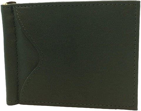 Royce Men's Cash Clip Wallet with Outside Pocket (Dark Green)