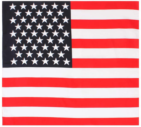 "Large US FLAG Bandana– 27"" X 27"""