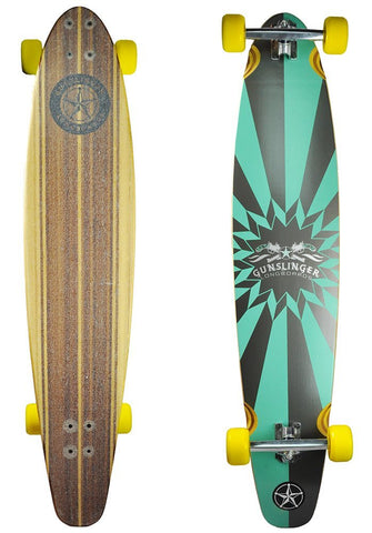 "Gunslinger Longboards Complete Skateboard - Starburst 44"" (Graphic Blem)"
