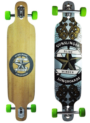 Gunslinger Longboards Complete Skateboard - Slide Winder (Graphic Blem)
