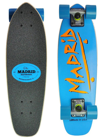 Madrid Skateboards Midget Series 'Party' Skateboard Cruiser, Blue - Auction