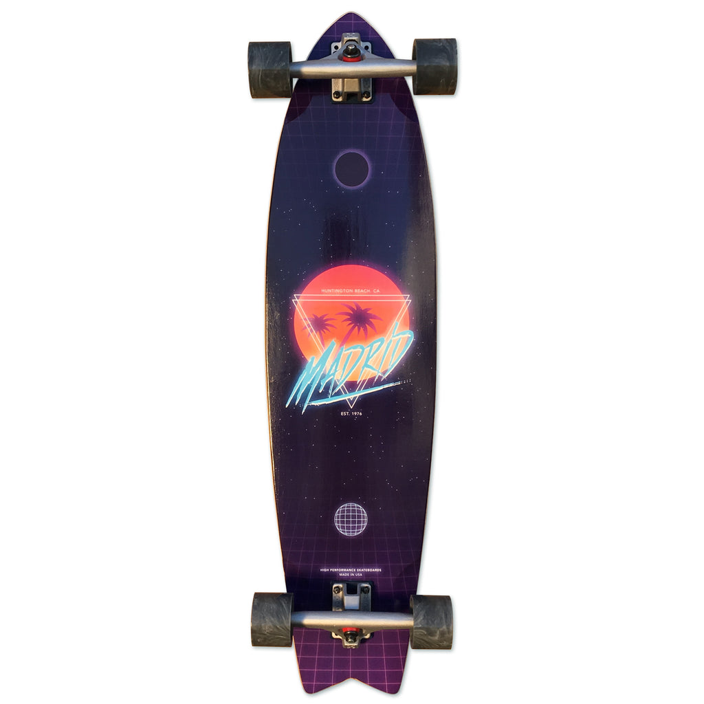 "Madrid Skateboards ""Hotline"" Top Mount Pintail Cruiser, 37.75"" x 9.75"""