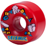 Seismic Cry Baby 64mm Longboard Wheels
