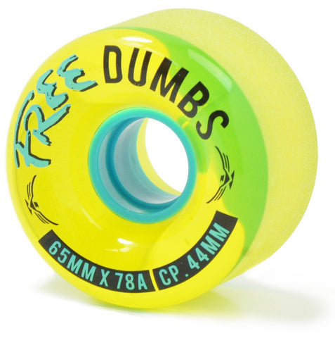 Free Wheel Co. Dumbs (Clear Thane) Longboard Wheels