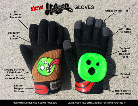Holesom Cords Longboard Slide Gloves with Holesom Pucks