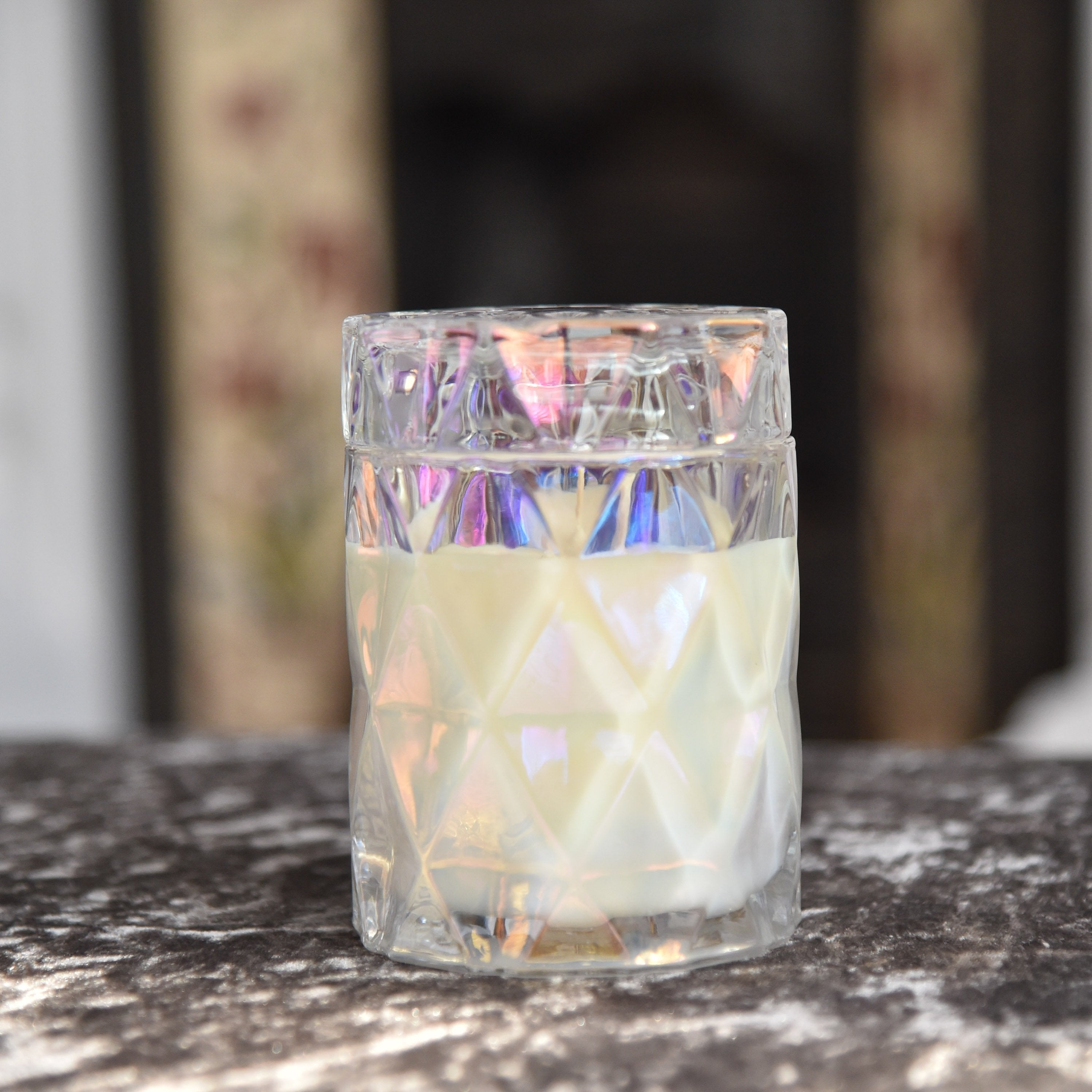 Diamond Pearlescent Soy Candle Large