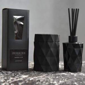 Diamond Matte Black Home Diffuser & Soy Candle