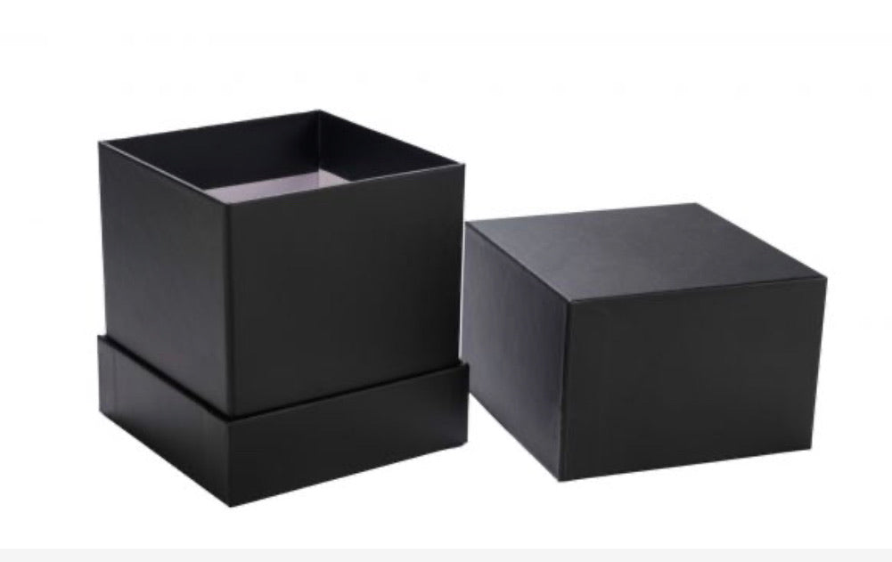 Black candle gift box