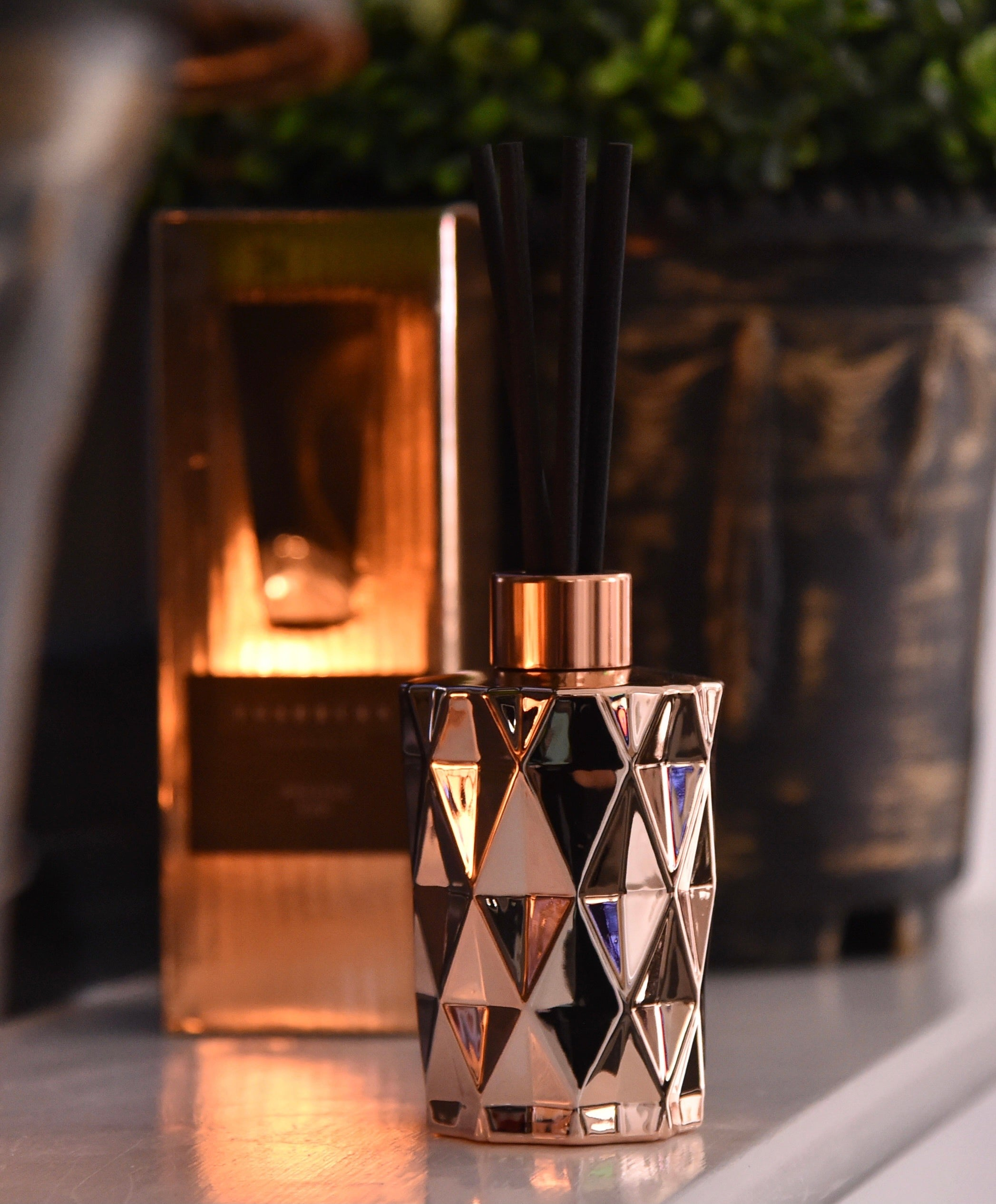 Rose Gold DIAMOND REED DIFFUSER
