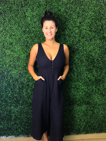Winner Takes All jumpsuit- navy